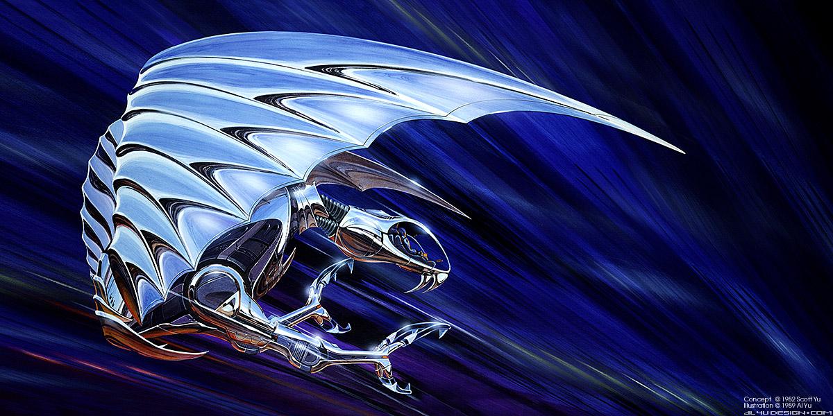 Chrome Eagle Art